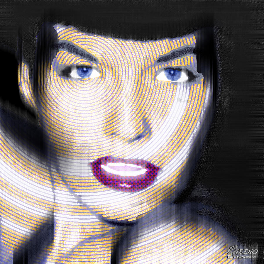 Bettie Page Painting - Bettie Page Improved by Tony Rubino