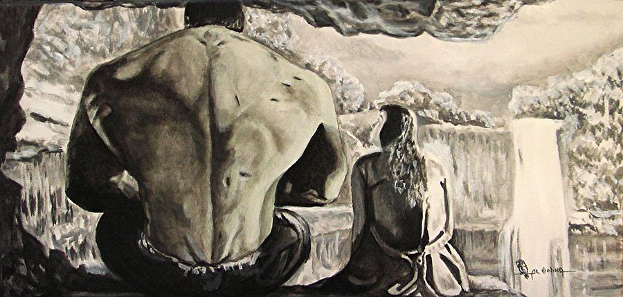 Hulk Painting - Betties Hulk by Al  Molina