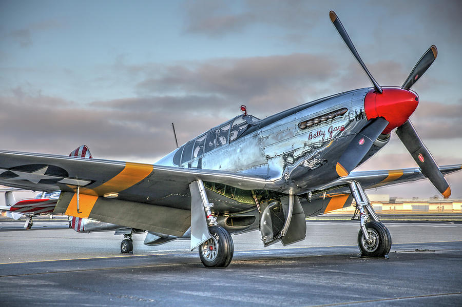 P51 Photograph - Betty Jane P51d Mustang At Livermore by John King