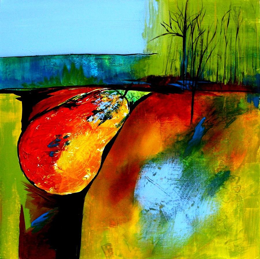 Modern Painting - Between A Pear And A Rock by Jane Robinson