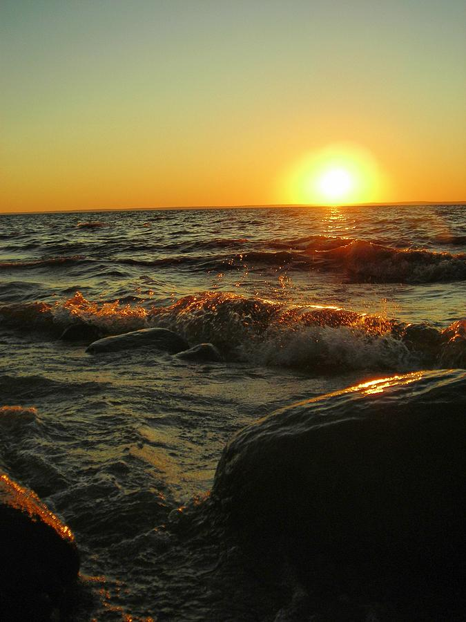 Sunset Photograph - Between a Rock and a Sunny Place by Peter Mowry