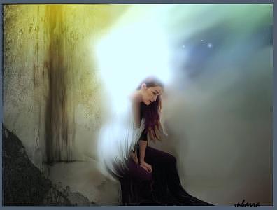 Angel Digital Art - Between Heaven And Earth by Maggie Barra