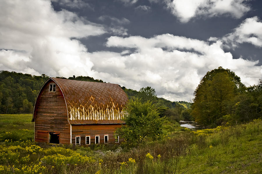 Barn Photograph - Between by Mike McMurray