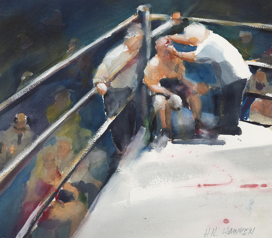 Fight Painting - Between Rounds by Hil Hawken