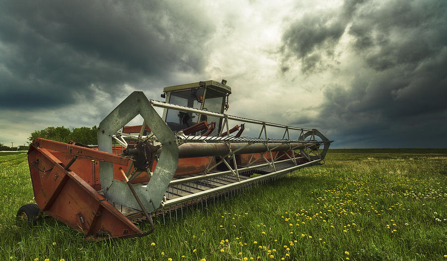Tractor Photograph - Between Storms by Stuart Deacon