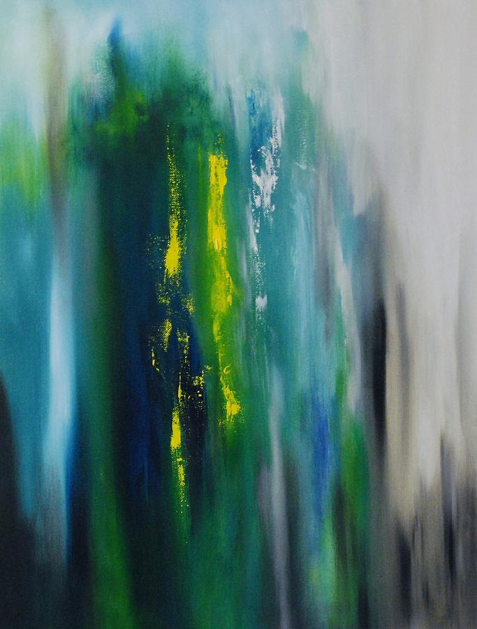 Abstract Painting - Between The Golden Rod by Larry Ney  II