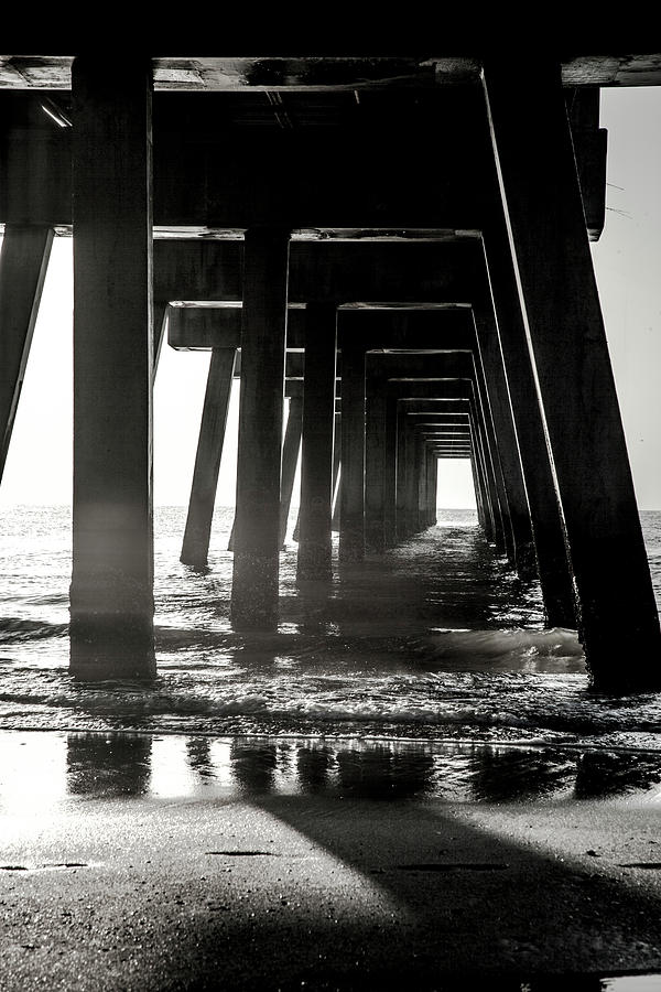 Beach Photograph - Between The Lines by Eric Christopher Jackson