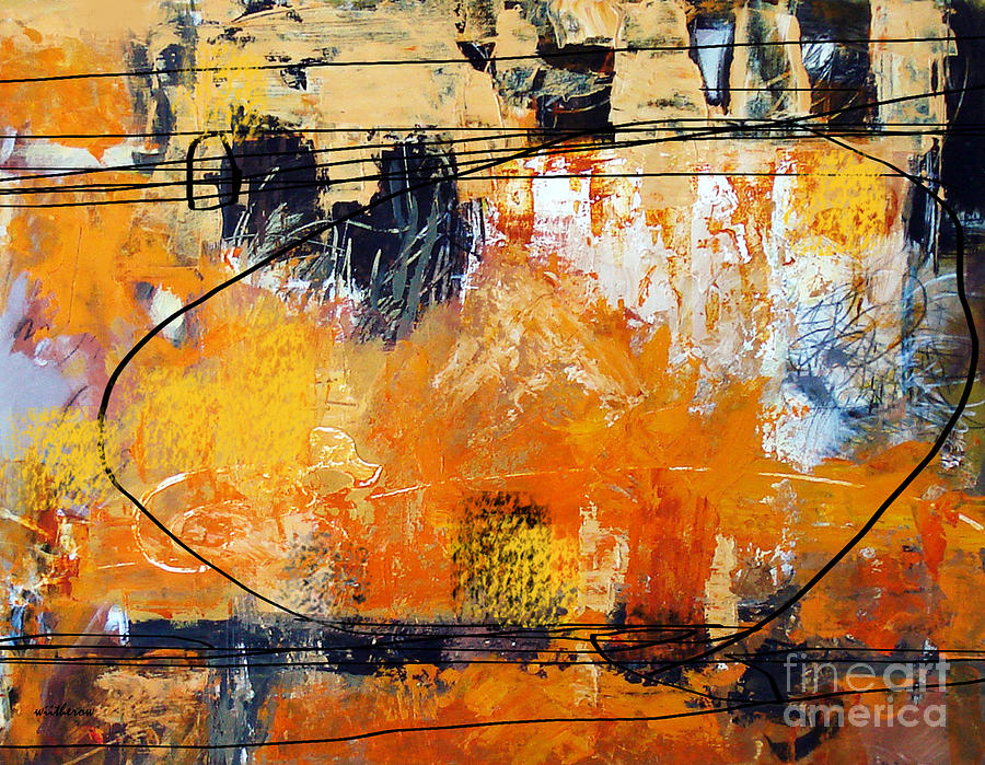 Abstract Painting - Between the What If by Dale  Witherow