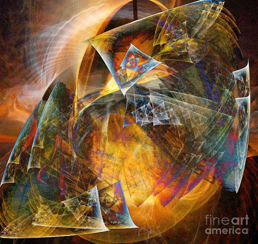 Fractal Digital Art - Between The Worlds 12 by Helene Kippert