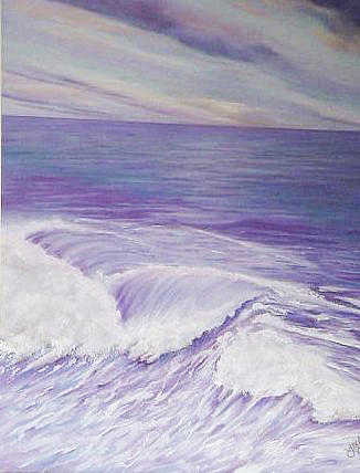Seascape Painting - Between Time by Jean LeBaron