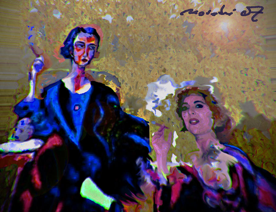 Human Composition Painting - Between Us Gal by Noredin Morgan