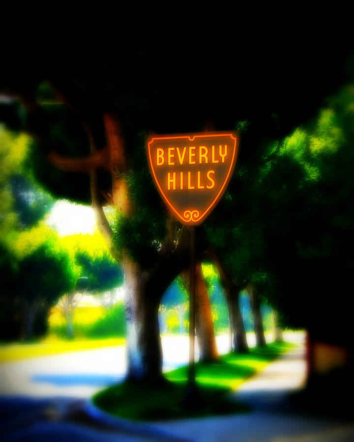 Beverly Hills Photograph - Beverly Hills Sign by Perry Webster