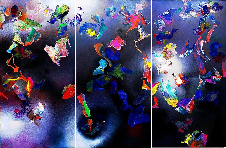 Abstract Expressionism Painting - Beward Of Flying Objects by Herbert Murrie