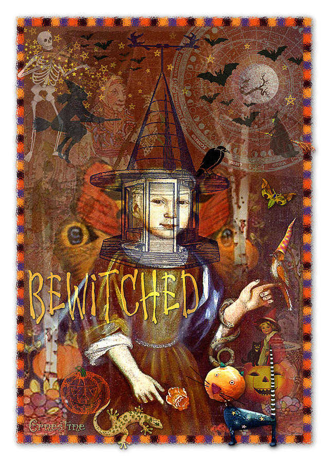 Samhain Digital Art - Bewitched by Ernestine Grindal