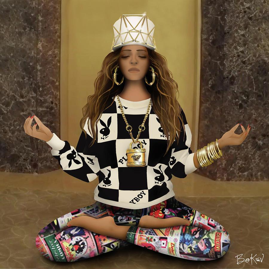 Beyonce Digital Art - Beyonce - 711 by Bo Kev