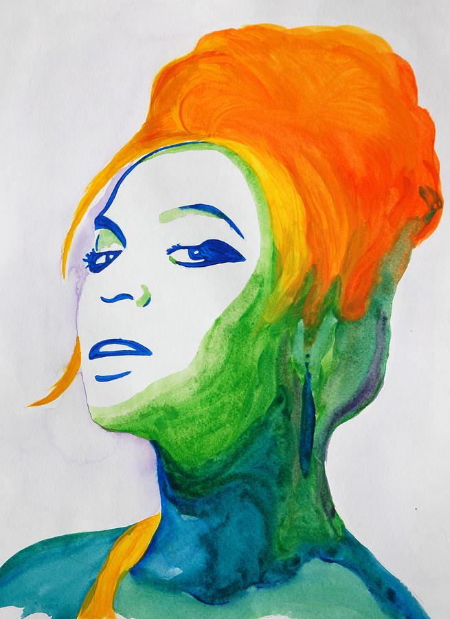 Watercolor Painting - Beyonce by Michael Ringwalt