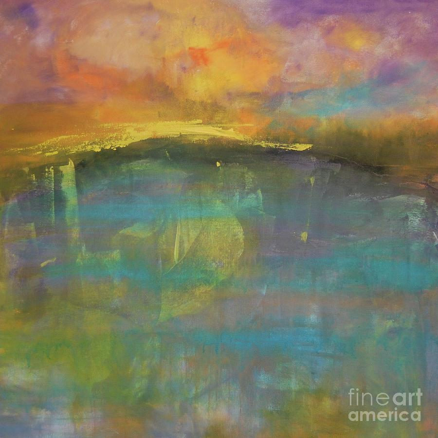 Abstract Impressionism Painting - Beyond 1 by Terri Davis
