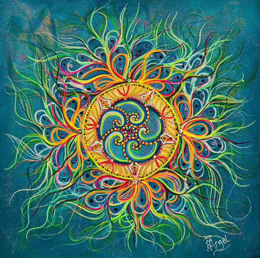 Mandala Painting - Beyond Bliss by Angel Fritz