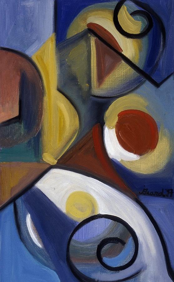 Abstract Painting - Beyond Blue by Jodye  Beard-Brown
