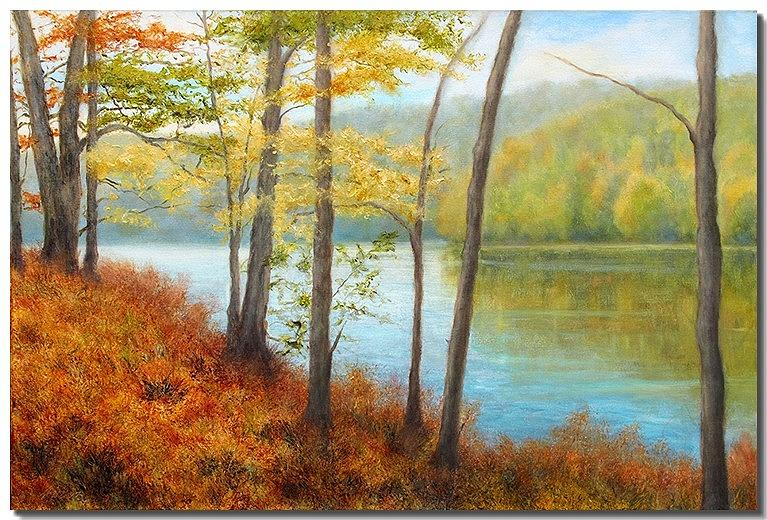 Fall Foliage Painting - Beyond III by Liron Sissman