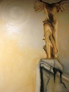 Earth Tones Painting - Beyond Nike Of Samothrace by Michael Magee