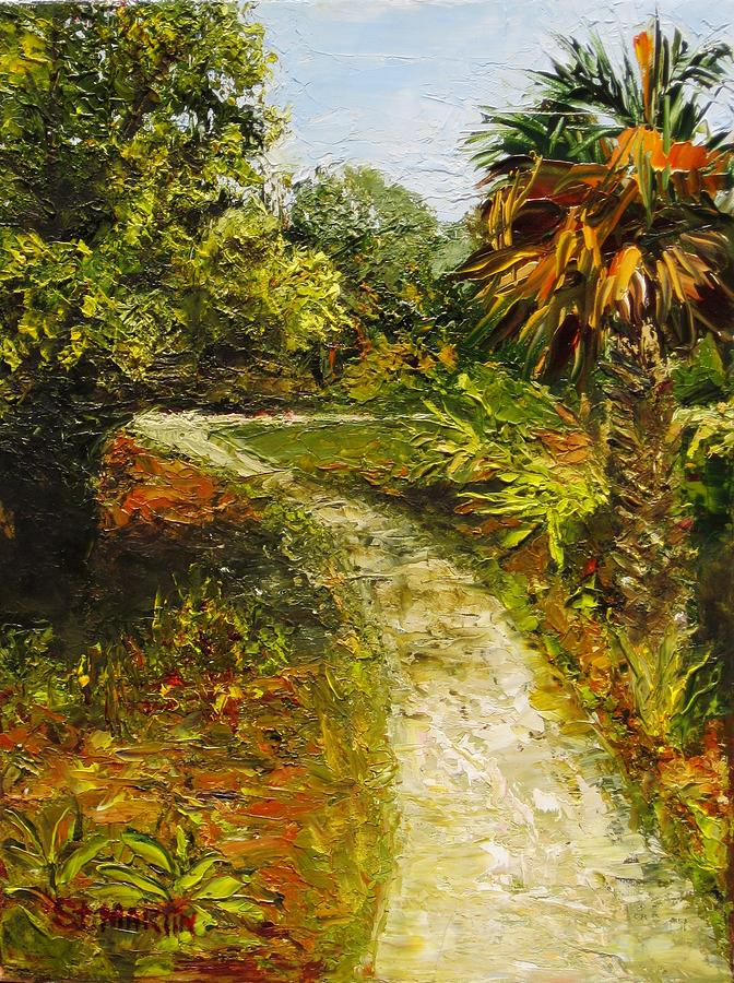 Tropical Landscape Painting - Beyond The Bend by Annie St Martin