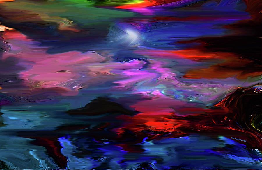 Blue Digital Art - Beyond The Blue Horizon by Sherris - Of Palm Springs