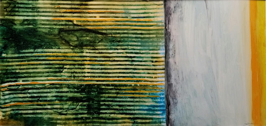 Contemporary Painting - Beyond The Fence by Barbara Rhodes