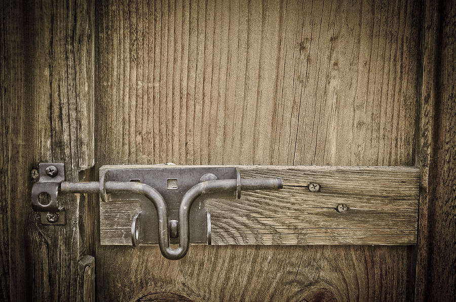 Farm Door Photograph - Beyond The Frontier by Keith Sanders