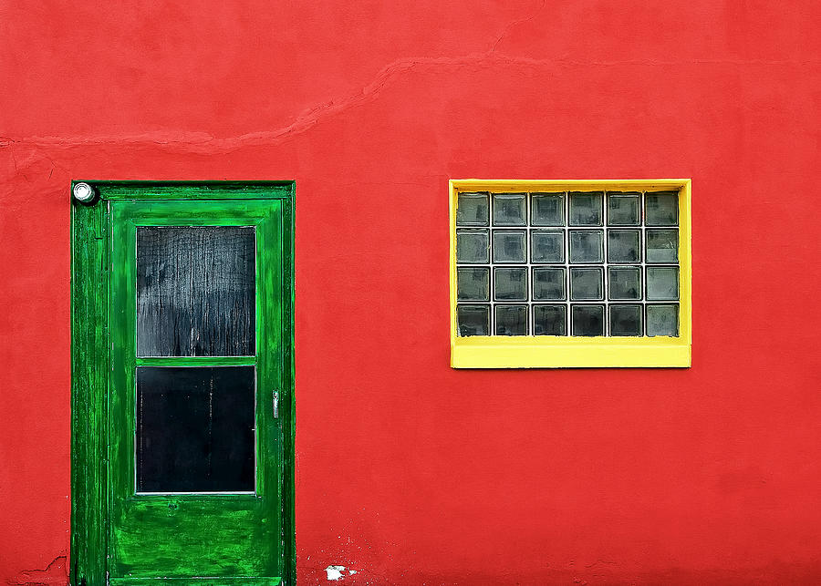 Colors Photograph - Beyond The Green Door by Todd Klassy