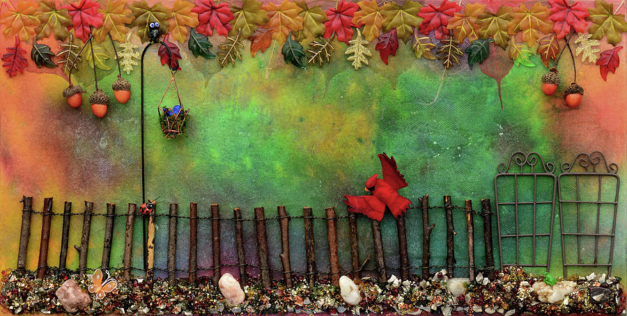 Beyond The Iron Gate Mixed Media by Donna Blackhall