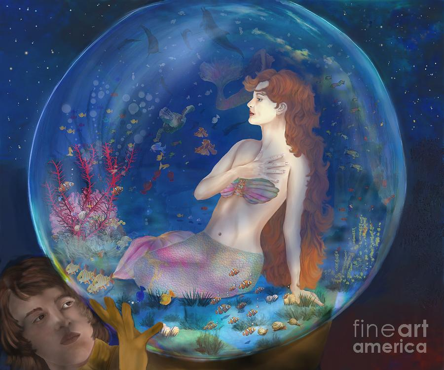 Mermaid Digital Art - Beyond The Sea by Sydne Archambault