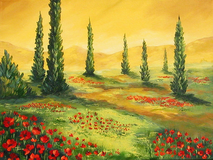 Tuscan Painting - Beyond The Tuscan Sun  by Torrie Smiley