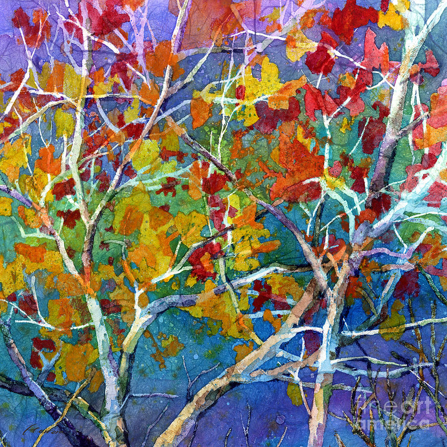 Trees Painting - Beyond The Woods - Orange by Hailey E Herrera