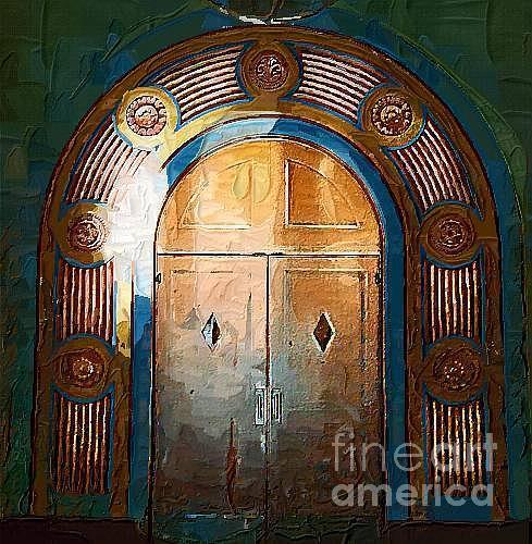 Old Door Painting - Beyond This Door by Deborah Selib-Haig DMacq