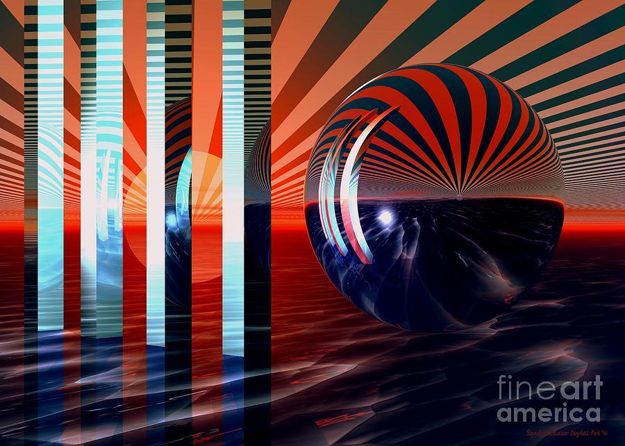 Bryce Digital Art - Beyond Tomorrow by Sandra Bauser Digital Art