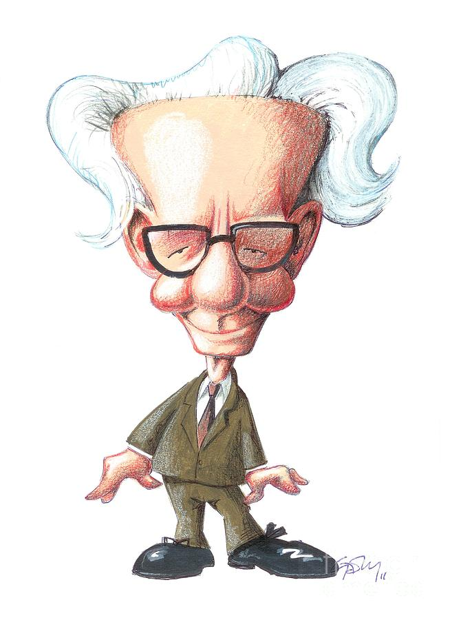 b f  skinner  caricature photograph by gary brown