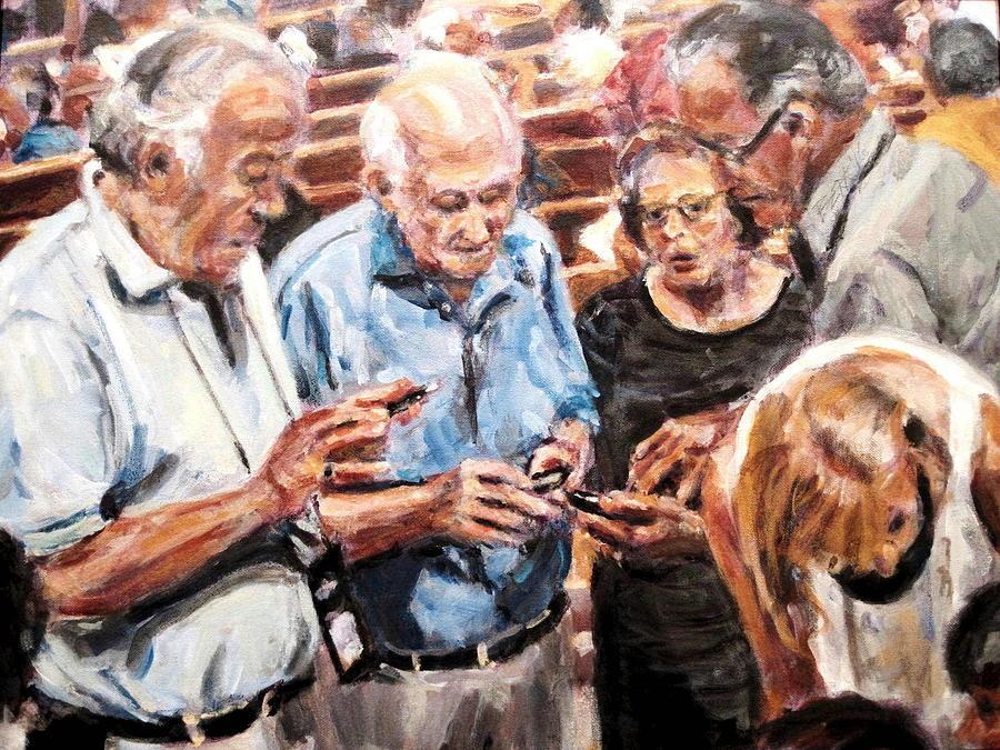 Acrylic Painting - Bffs by Chuck Berk
