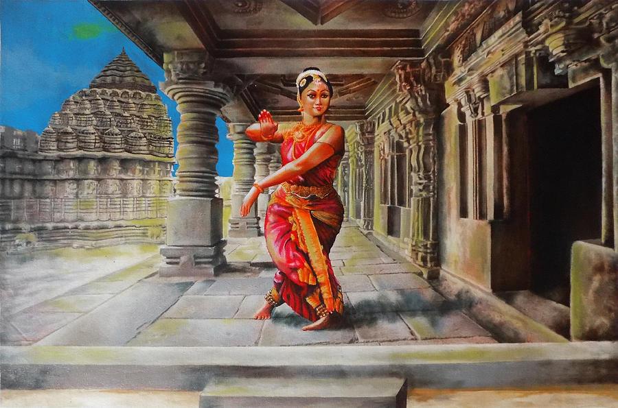 Bharata Natyam Version 3 Painting By Asp Arts