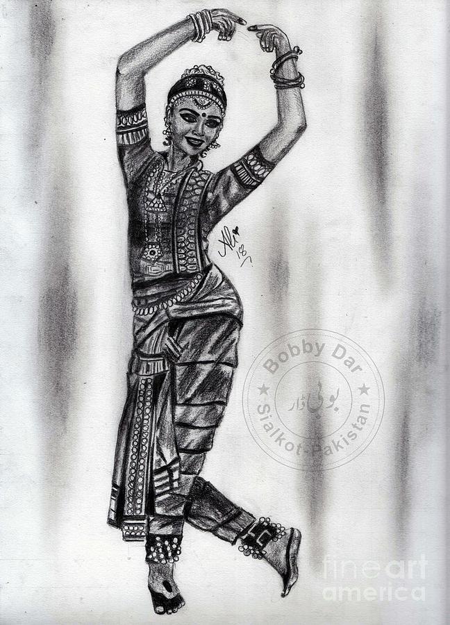 Bharatanatyam Dancer Drawing By Bobby Dar