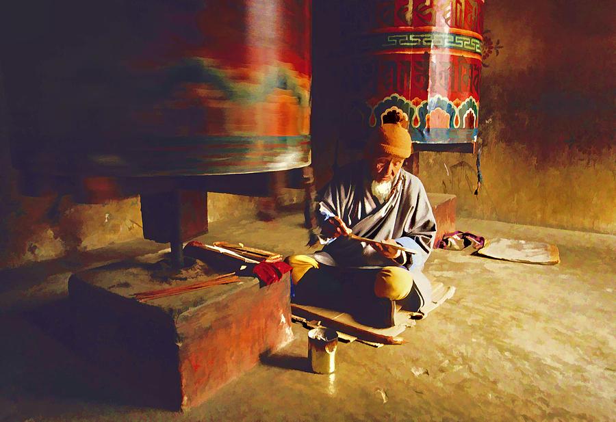 Bhutan Photograph - Bhutan Pilgrim by Dennis Cox