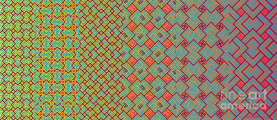 Bibi Khanum DS Patterns Mug No.8 by Mamoun Sakkal