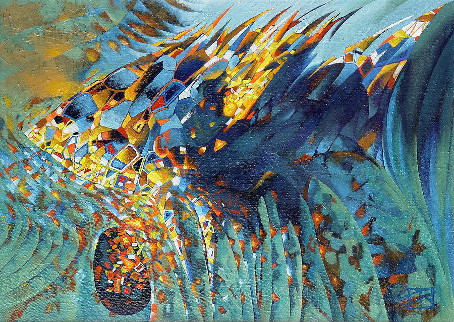Bible fish painting by oleg lipchenko for Best art galleries in the world