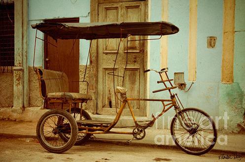 Havana Photograph - Bicitaxi by K Randall Wilcox