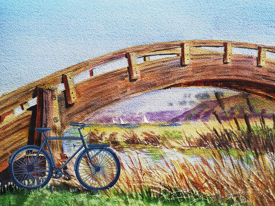 Bicycle Bridge Marina Painting