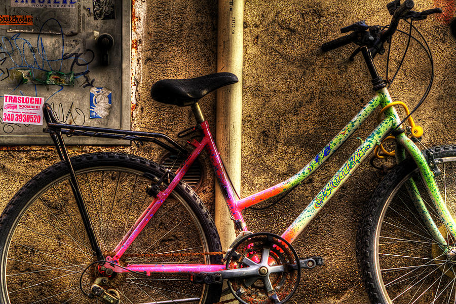 Rome Photograph - Bicycle In Trastevere by Brian Thomson