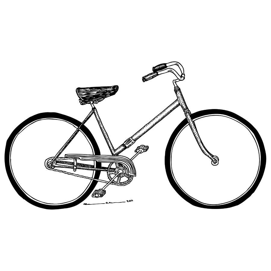 Drawing Drawing - Bicycle by Karl Addison