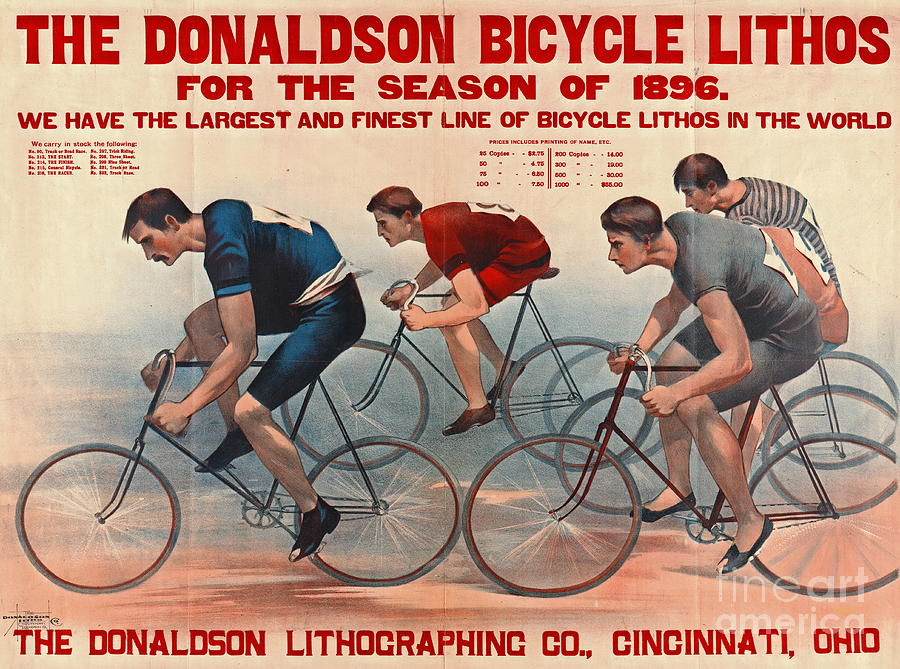 Bicycle Lithos Ad 1896 by Padre Art
