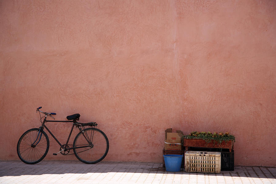 Bikes Photograph - Bicycle Marrakech  by Pauline Cutler
