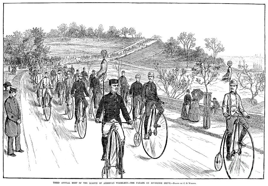 1883 Photograph - Bicycle Meet, 1883 by Granger